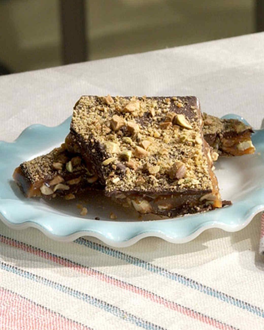 Chocolate Pistachio Brittle