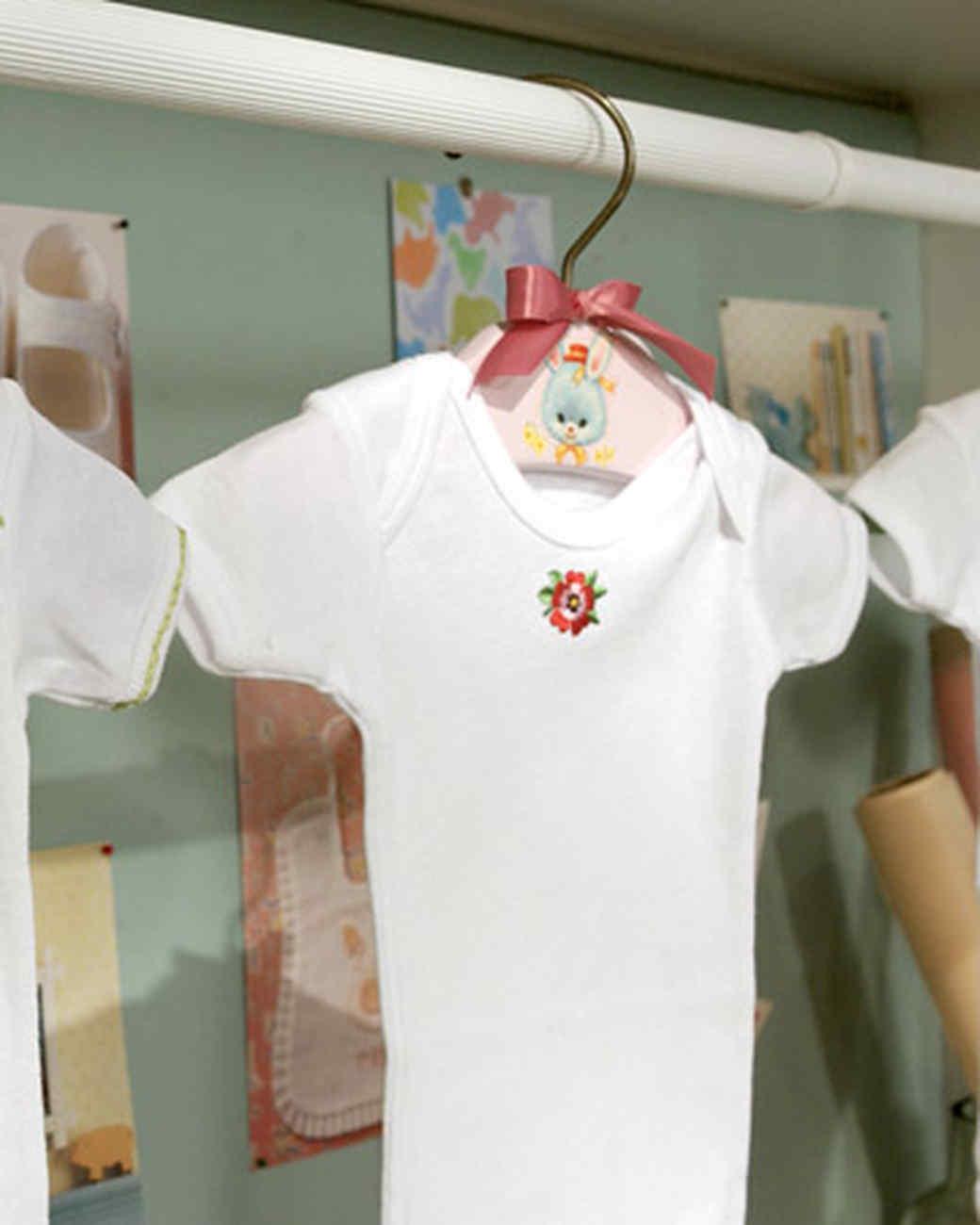 Decoupaged Baby Hangers
