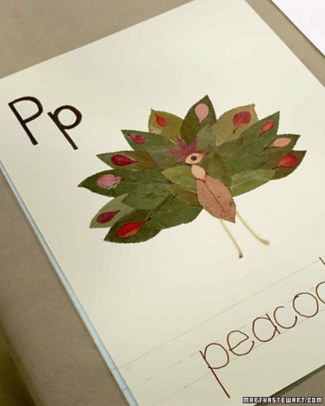 Leaf Collage Martha Stewart