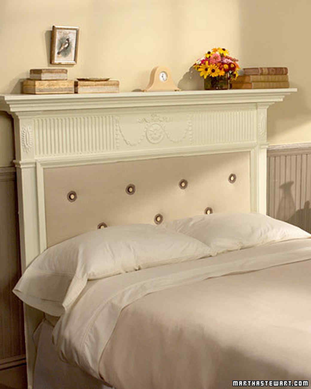 11 diy headboard ideas to give your bed a boost martha - How to make a bed headboard ...