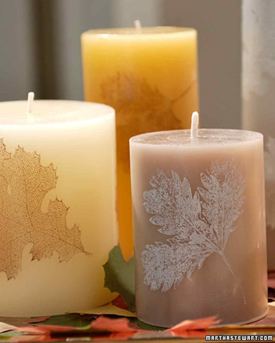 Uncategorized Candle Decorate candle crafts martha stewart