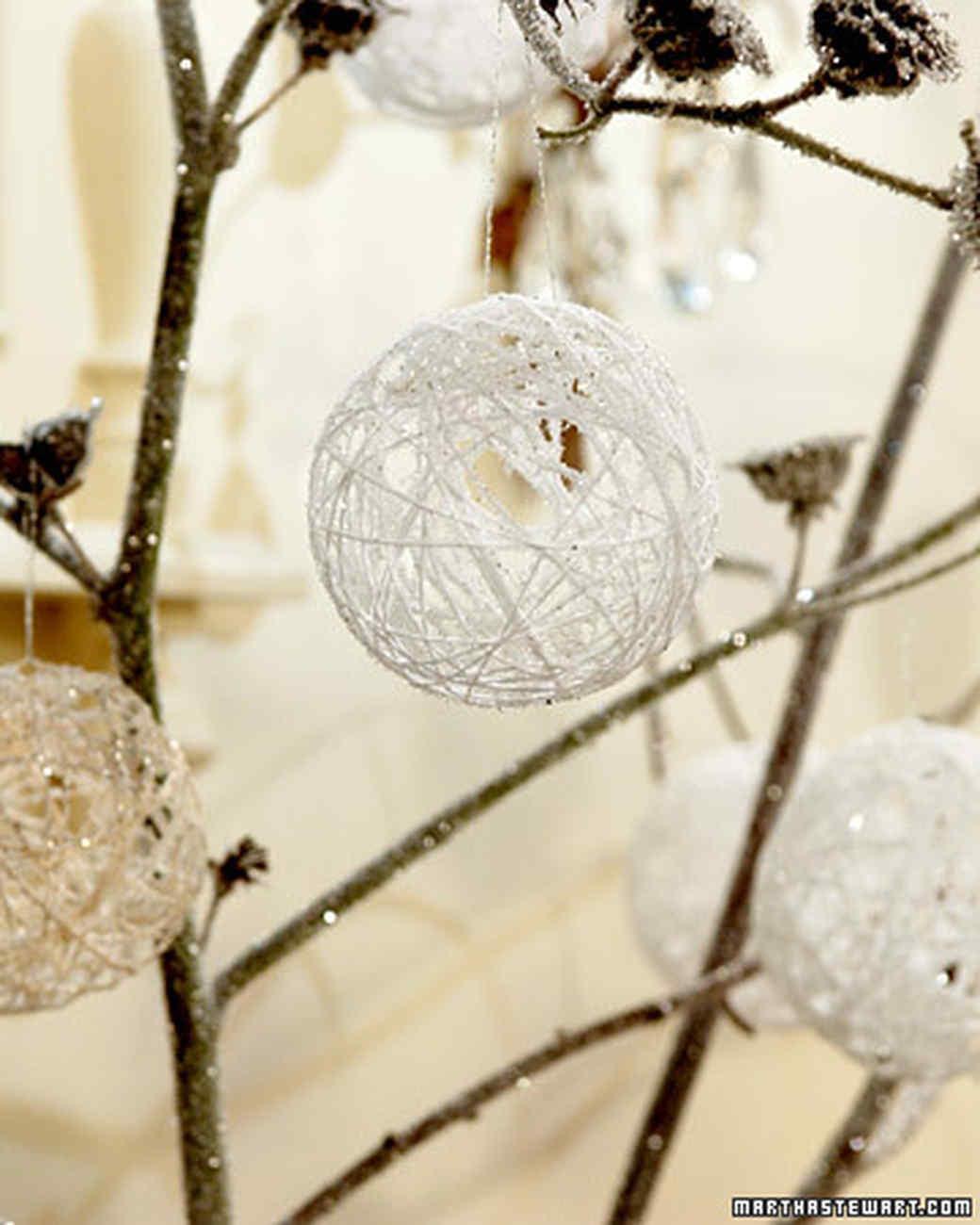 Snowy Balloon Ornaments