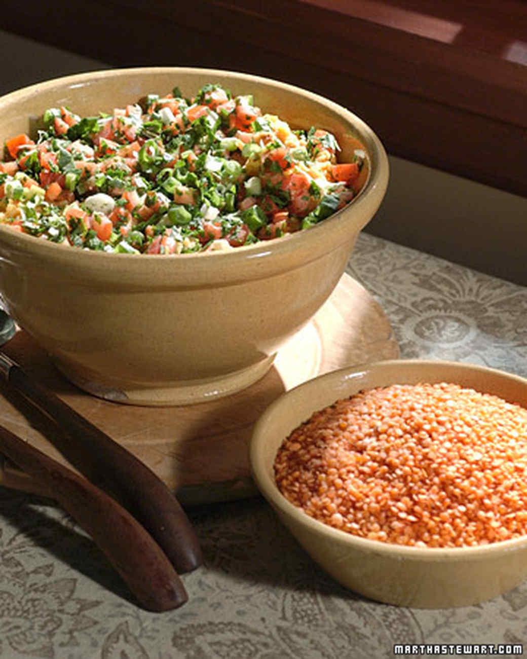 Red Lentil and Bulghur Salad
