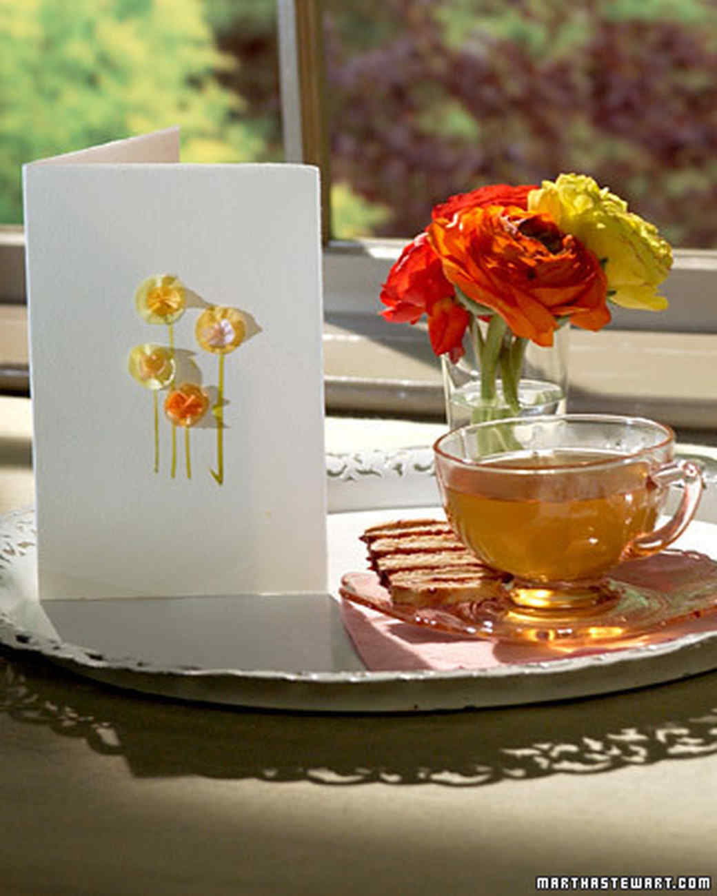 Mother's Day Tissue Flower Card