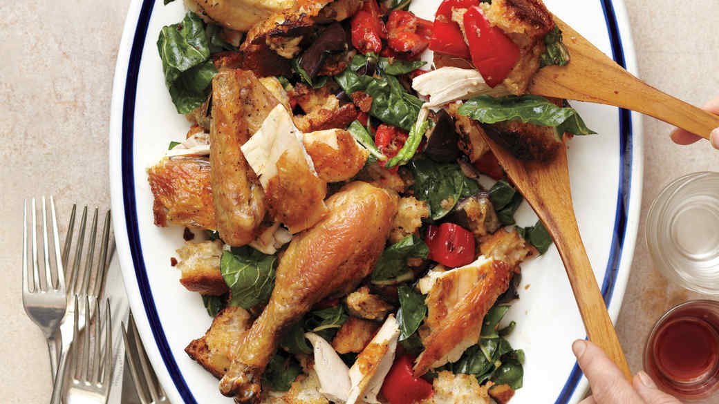 whats-for-dinner-roast-chicken-with-broiled-vegetable-and-bread-salad-mld108884.jpg
