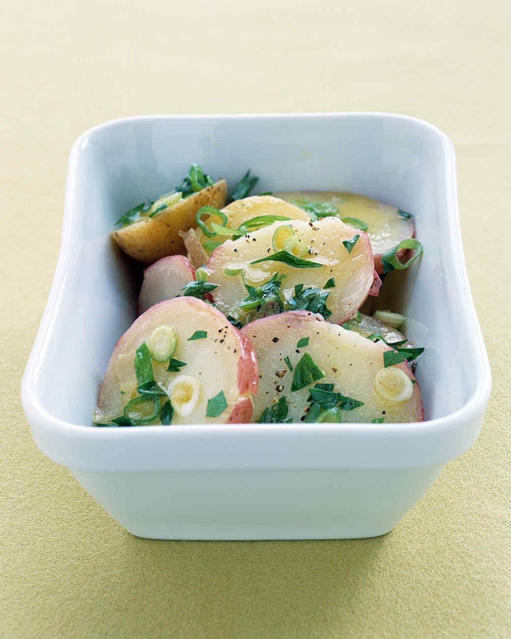 Hot Potato Salad with Scallion Vinaigrette