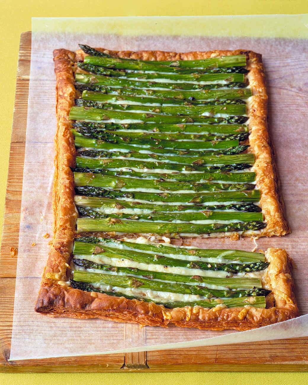 Asparagus Gruyere Tart Recipe & Video | Martha Stewart