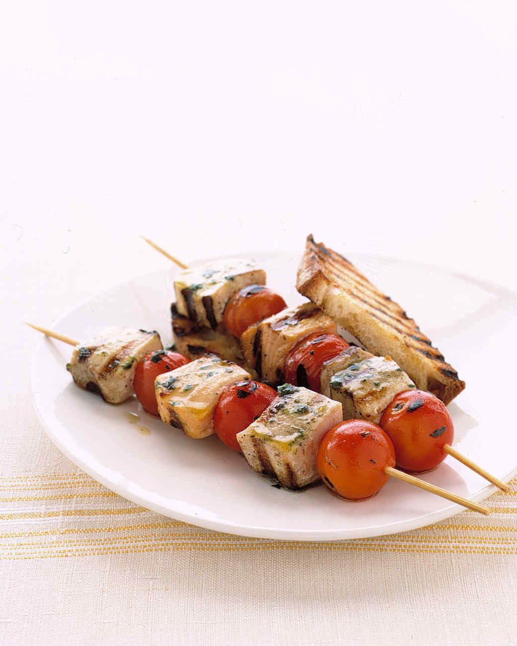 Grilled Fish Kabobs with Cherry Tomatoes