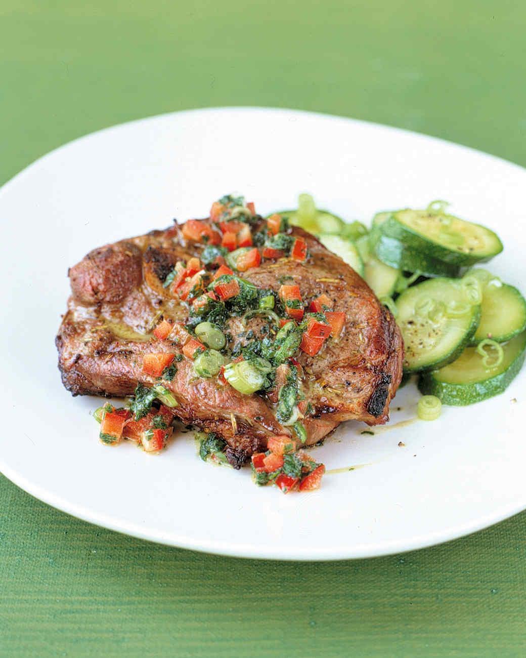 Lamb Chops with Mint-Pepper Sauce