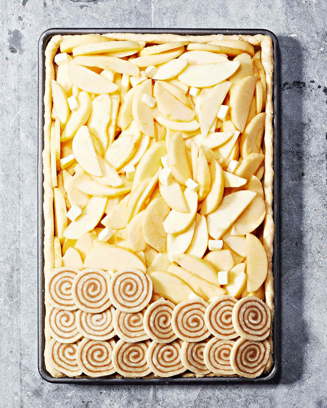 Cinnamon-Swirl Apple Slab Pie