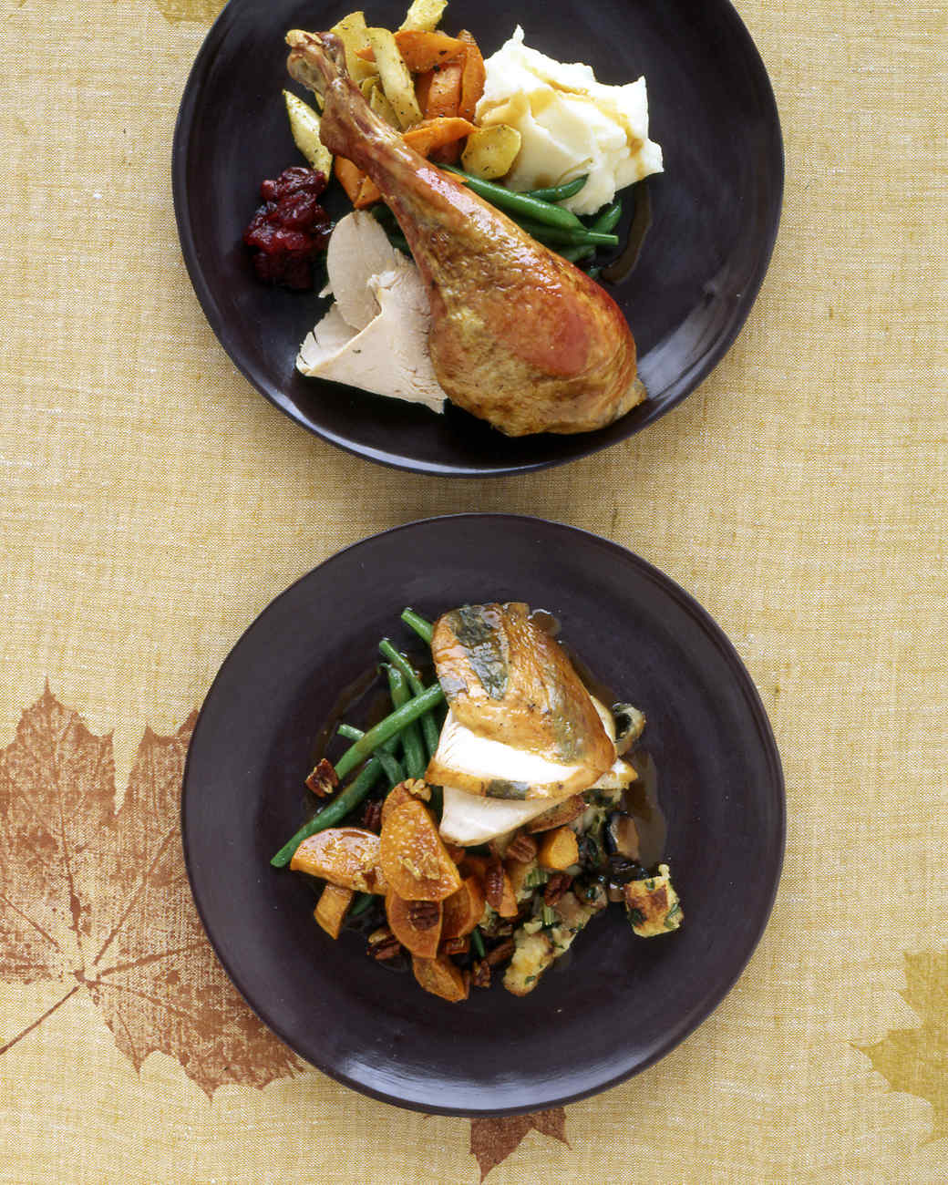 Roast Turkey With Sage and Mushroom Stuffing