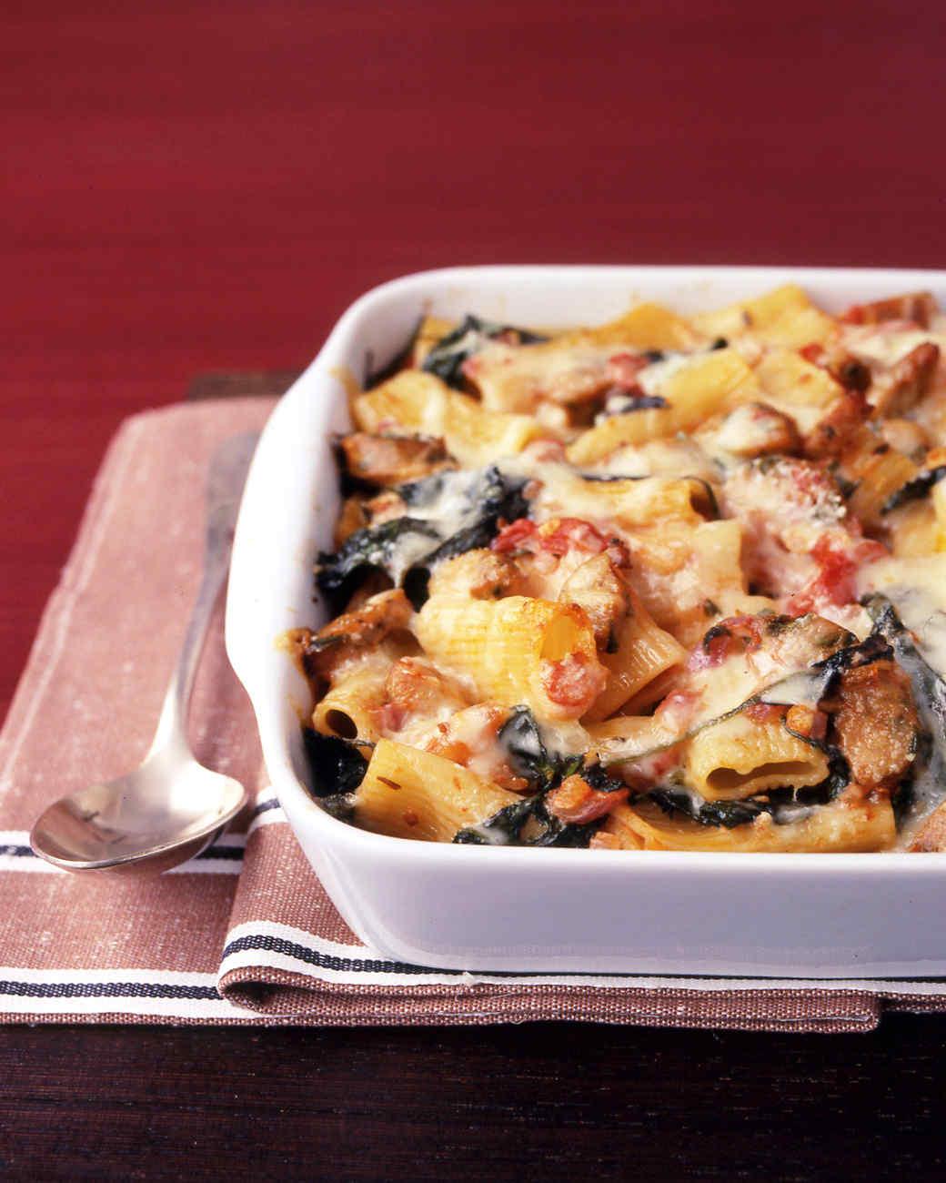 Baked Pasta with Chicken Sausage Recipe & Video | Martha Stewart