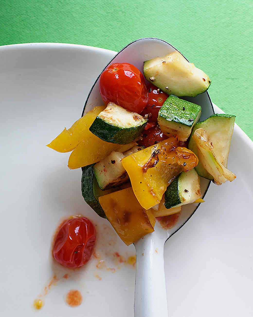 Sauteed Zucchini, Peppers, and Tomatoes