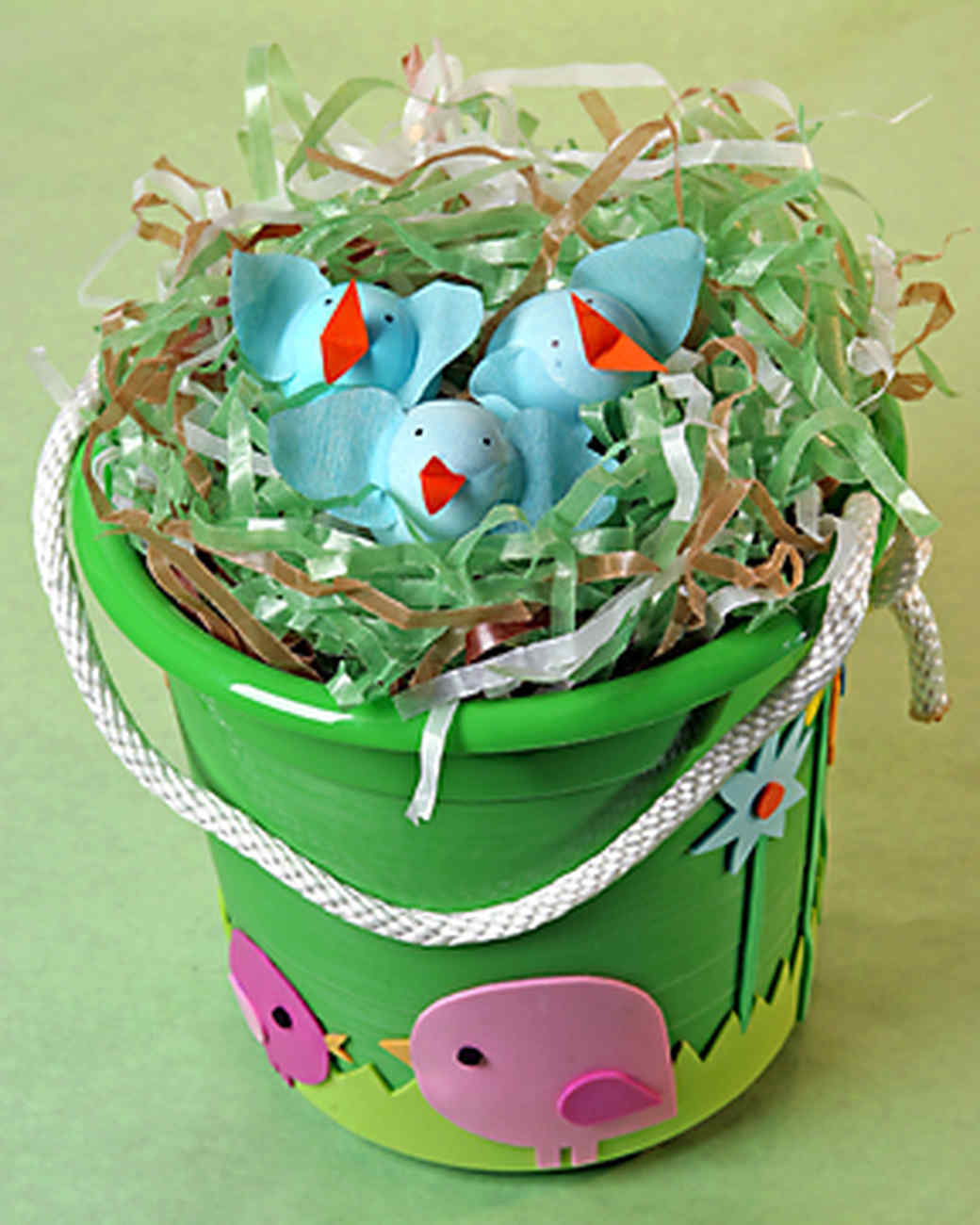 Homemade easter grass martha stewart kid easter basket negle Images