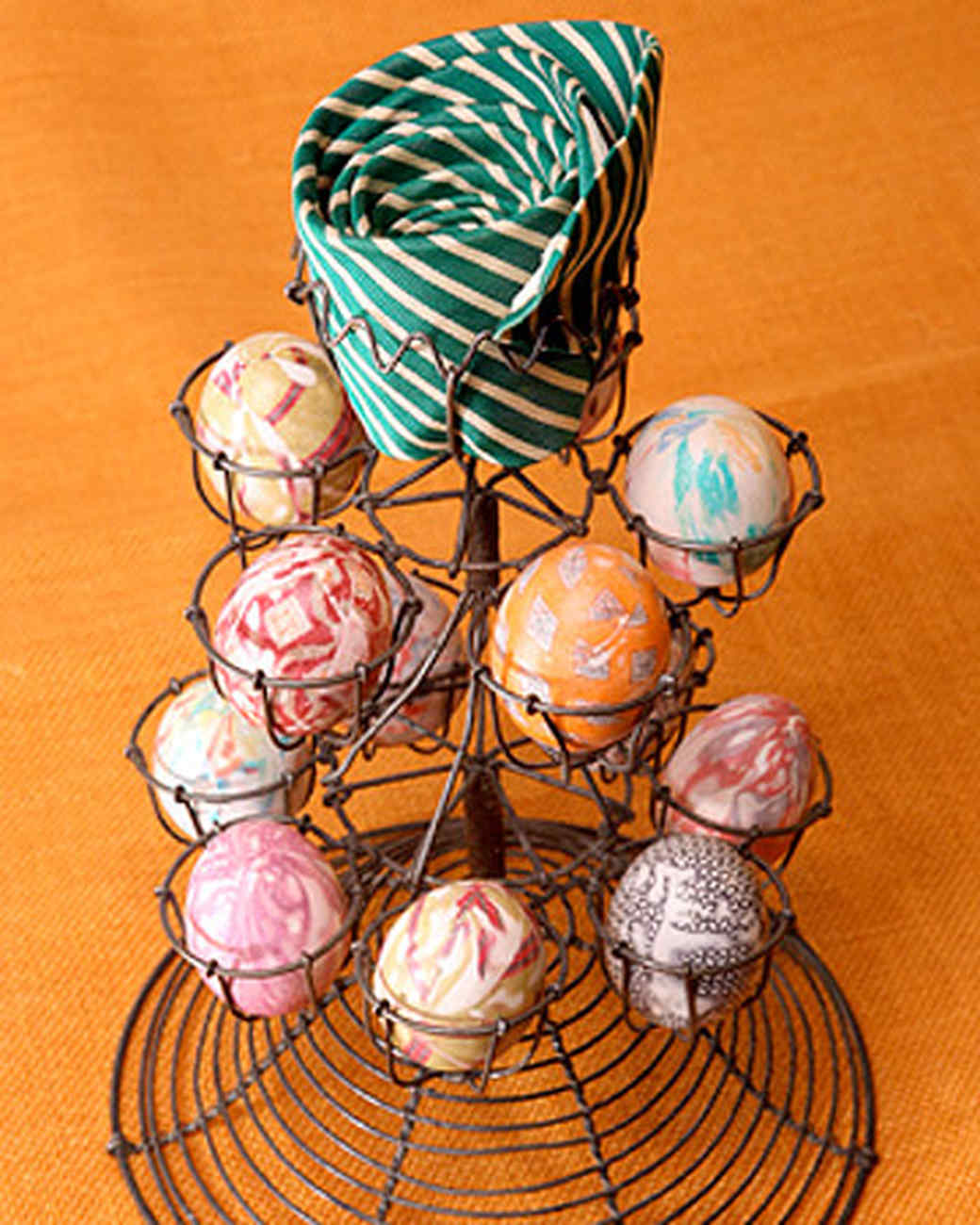 Silk-Tie Easter Eggs