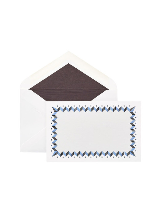 zigzag border paper card with envelope