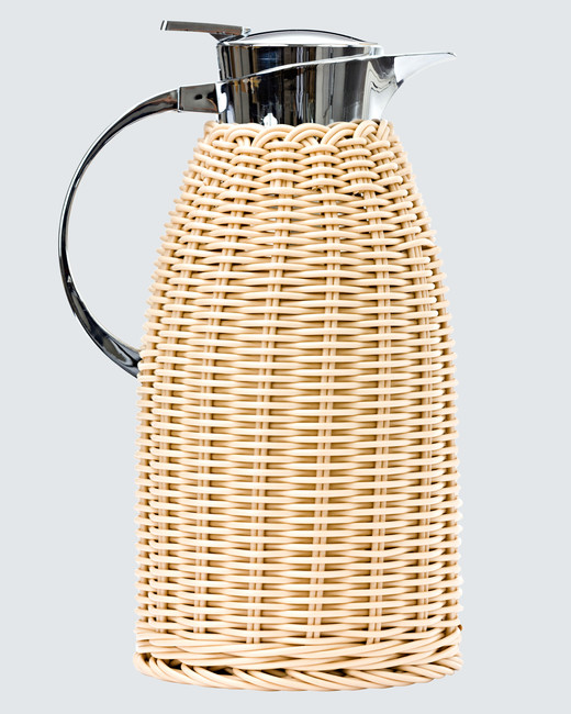 Amanda Lindroth rattan- wrapped thermos