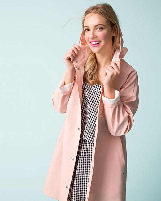 pale pink raincoat