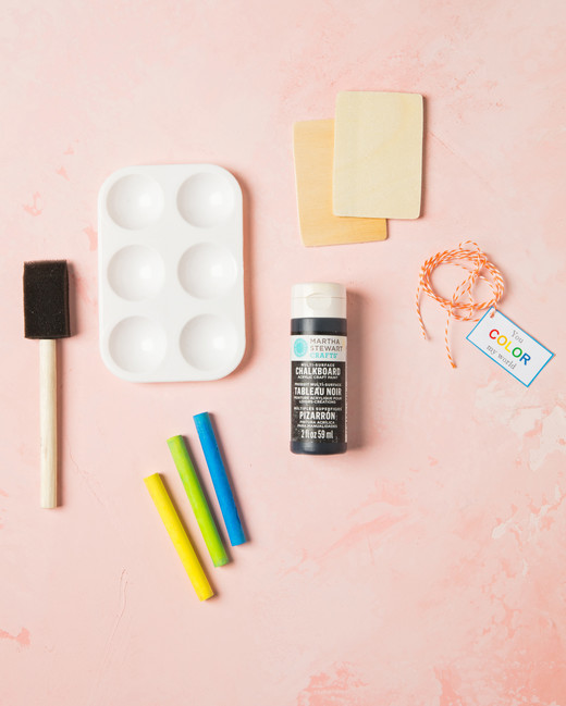 chalk coloring valentines materials