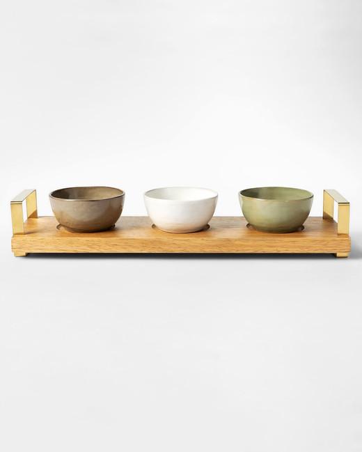 chrissy teigen tidbit bowls with wood tray