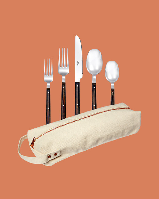 Skandia Kona flatware with canvas utility pouch