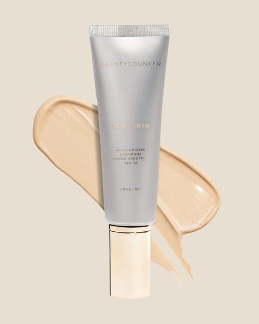 Beauty Counter Dew Skin bottle makeup smear
