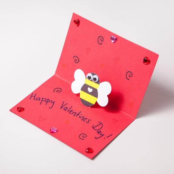 Kids Craft Pop Up Valentine S Day Cards Martha Stewart