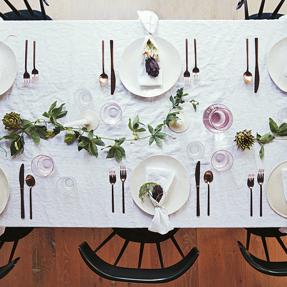 simple tablescape with natural elements