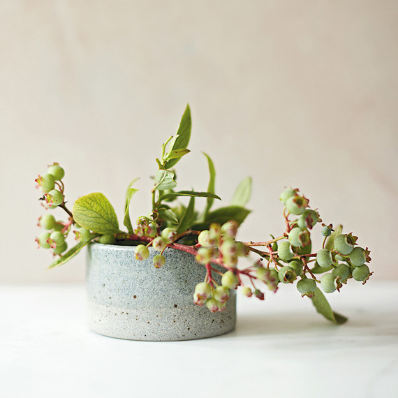 miniature spring planter with clippings