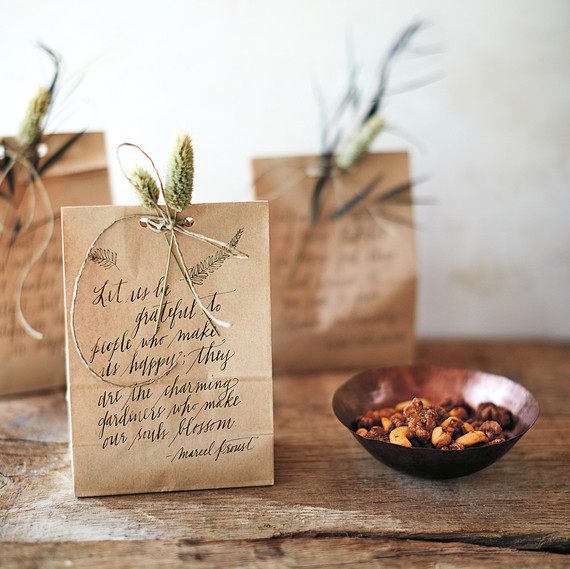 brown paper bags with quote