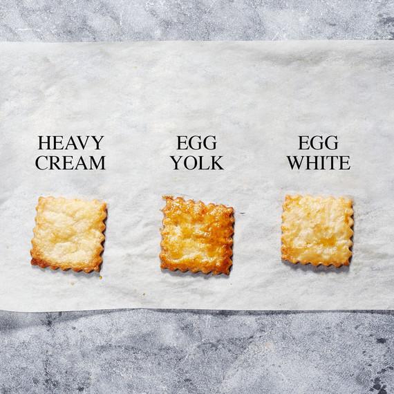 Pie crust finish wash