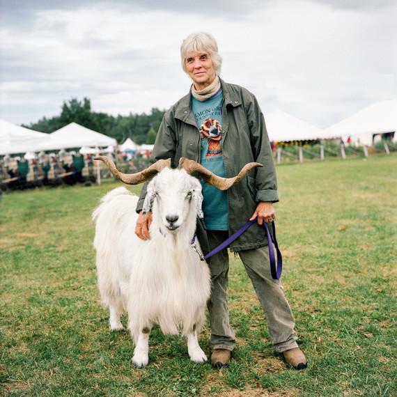 farmer with ram