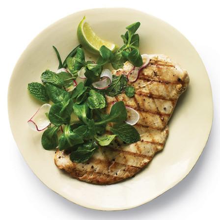 grilled chicken mint salad
