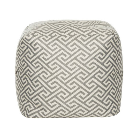 bhg gray pouf