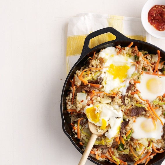 fried rice eggs