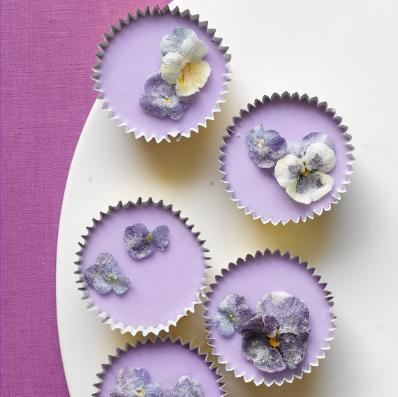 Spring Cupcakes with Sugared Flowers