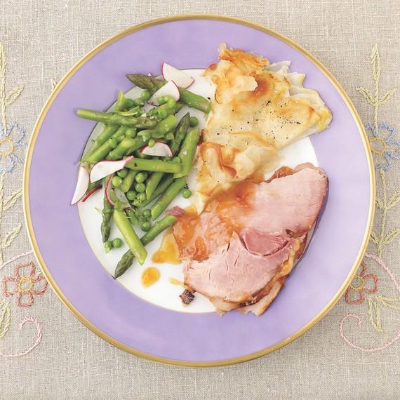 potato galette with ham