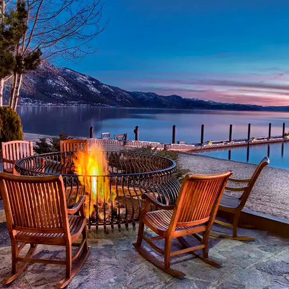 lake tahoe chairs around fire