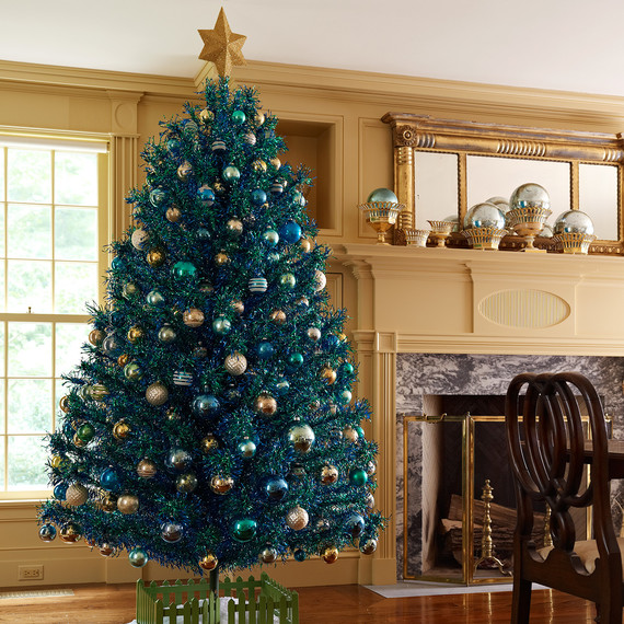 blue tree in Martha's house