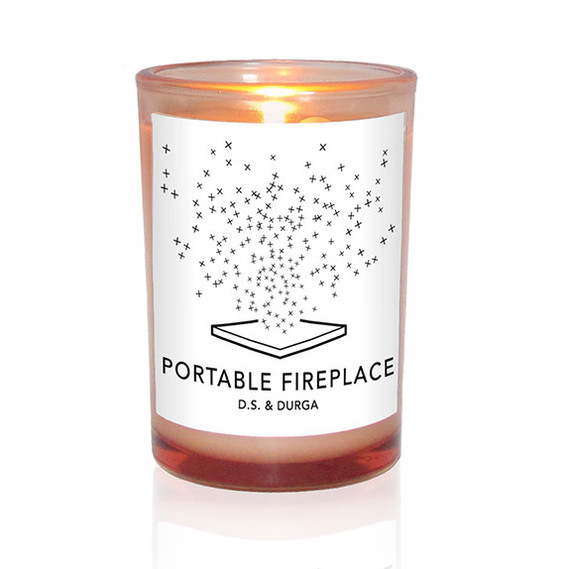 portable fireplace candle d s and durga