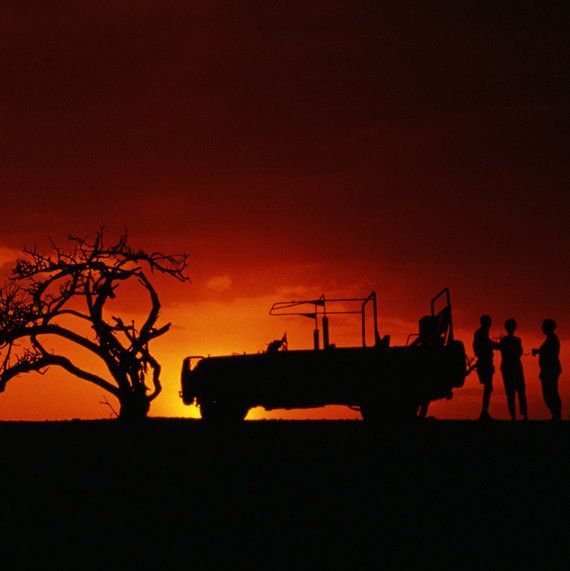 A sunset game drive