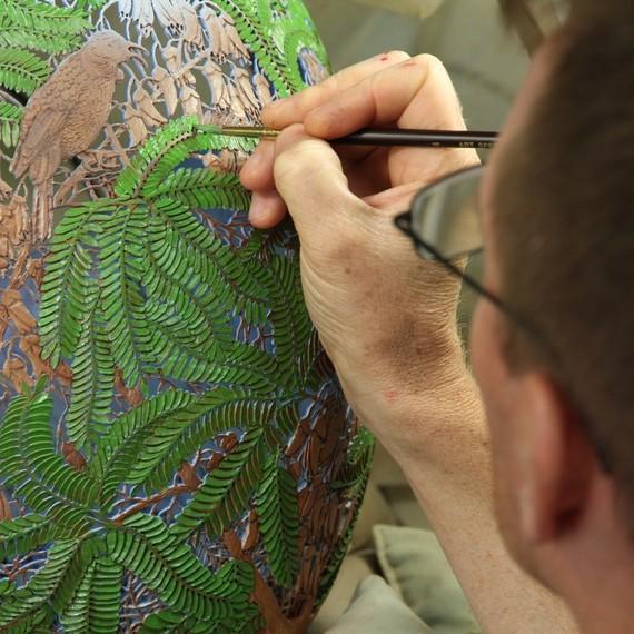 Painting bowl by Gordon Pembridge