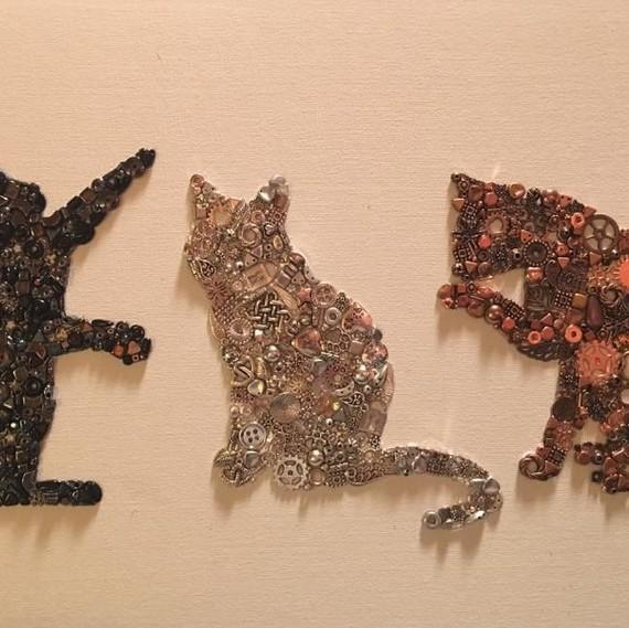upcycling three cats