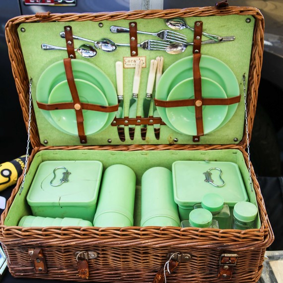 Picnic basket at flea market