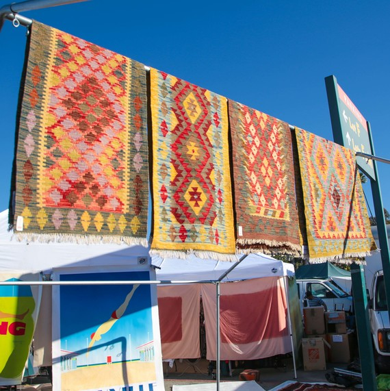 rugs at flea market