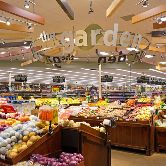 Kroger LED lighting in produce section