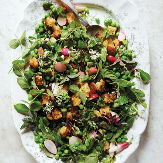spring bread salad