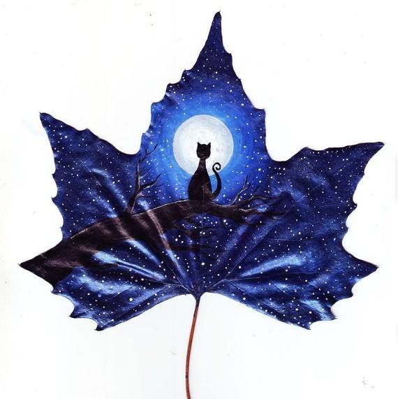 Fallen leaves art