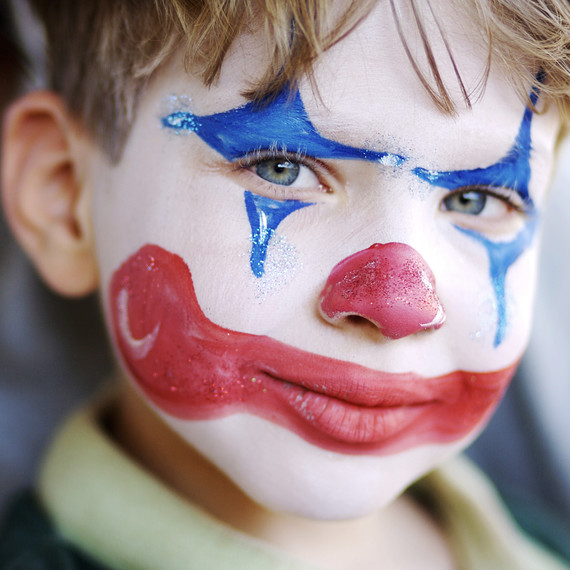 kid clown face paintjpg