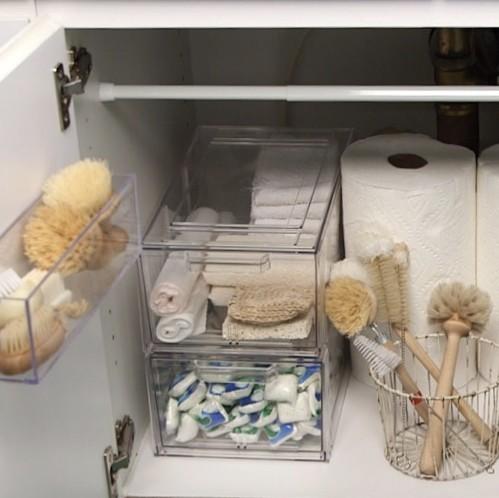 How to Organize Under the Kitchen Sink | Martha Stewart Under Sink Organization Kitchen on under cabinet organization, under shelf organization, under computer organization, bathroom cabinet organization, under bed organization,